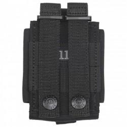 Cravate à Clip Marine Jaune bordeaux
